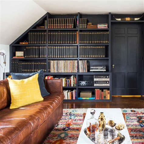 Sofa Vibe Magazine by Before After An Esquire Magazine Library Design Sponge