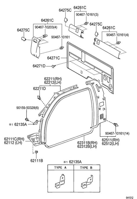 2000-2004 Toyota Tundra RH Front A-Pillar Interior Trim