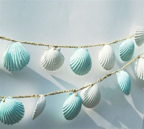 seashell decorations home seashell garland beach wedding decorations blue and