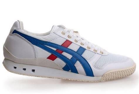 mens onitsuka tiger ultimate 81 athletic shoe white blue mens onitsuka tiger ultimate 81 running