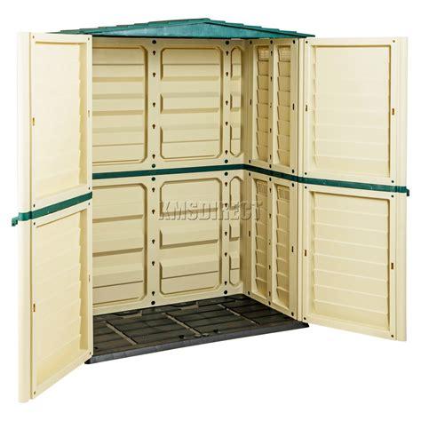starplast outdoor plastic garden shed box storage