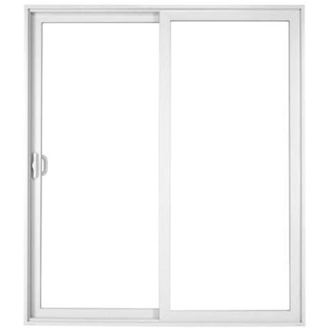 96 Patio Door Milgard Windows Doors Tuscany 96 In X 80 In White Left Vinyl Sliding Patio Door 8621