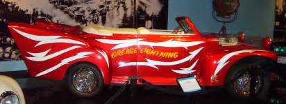White Grease Lighting Car California Petersen Automotive Museum Grease Lightning