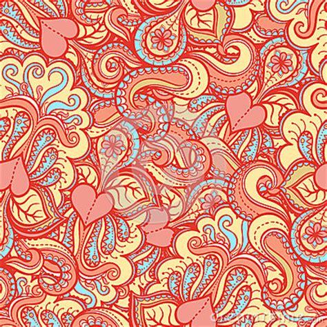 pattern pink orange orange pattern with pink hearts stock photo image 32392480