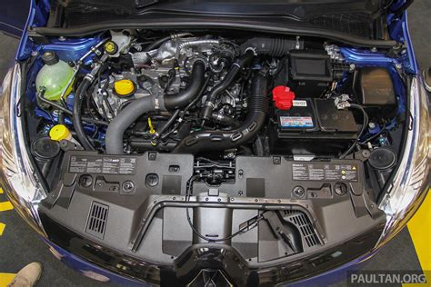 renault clio v6 engine bay renault clio gt line previewed in m sia est rm118k image