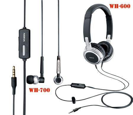 Nokia Wh 700 Headset Original nokia wh 600 wh 700 stereo headsets introduced