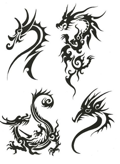 twin dragon tribal tattoo designs dragon designs