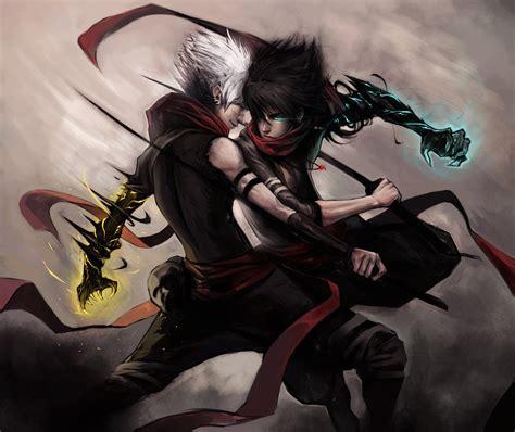 wallpaper girl killing boy cursed assassins by ninjatic on deviantart