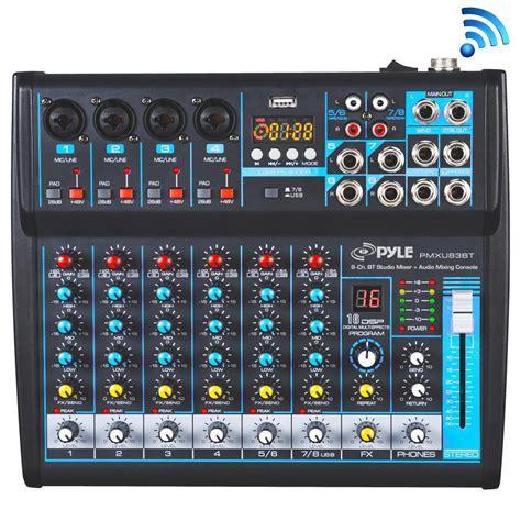 console mixer dj pyle pmxu83bt musical instruments mixers dj