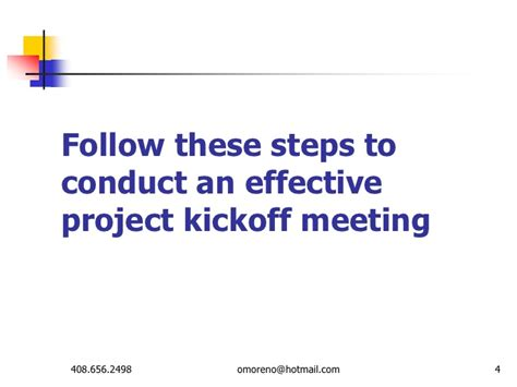 Effective Project Kickoff Meeting Kick Meeting Ppt