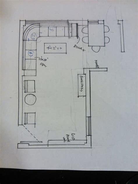 advise  arranging furniture   shape living  dining room