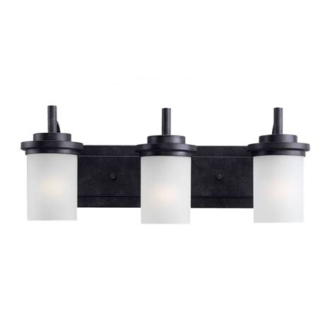 Black Bathroom Light Fixtures Sea Gull Lighting Oslo 3 Light Chrome Vanity Light 41162 05 The Home Depot