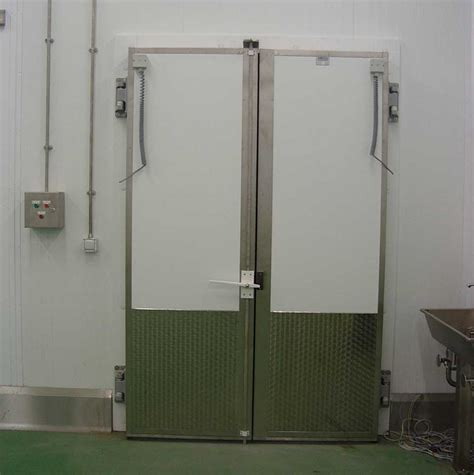 controlled temperature hinged for cold storage clark door