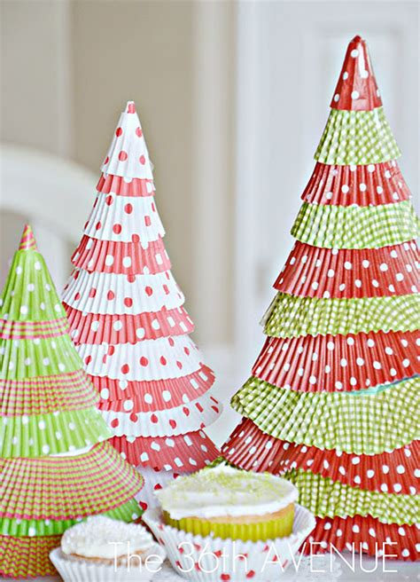 be different act normal cupcake liner christmas trees