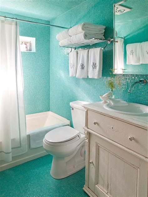 house tour white and pale tiffany blue makes a charming make your small bathroom appear bigger