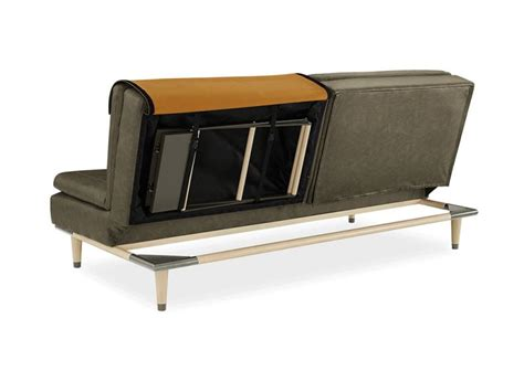 convertible sofa table dartmouth convertible sofa hides flat packed table in the back