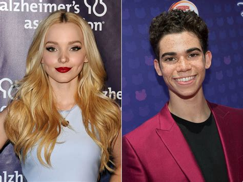 Disney Descendants 2 Sweepstakes - cameron boyce dove cameron have a matching hair moment on the descendants 2 set