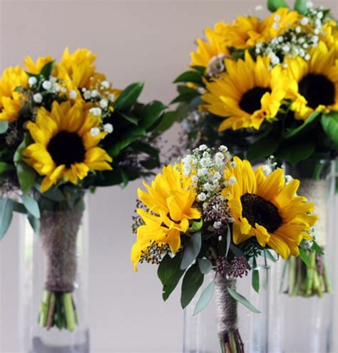 Flowers To Go by Vintage Sunflower Collection Bridal Flowers To Go