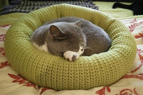free crochet pattern cat bed free crochet cat bed patterns to make cat caves donuts