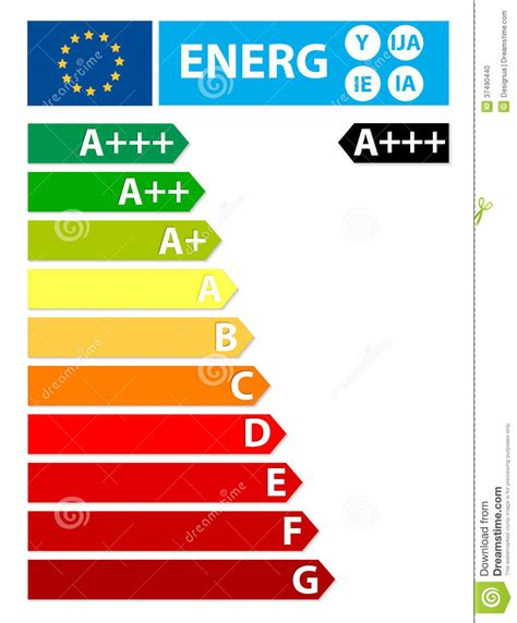 european union energy new label stock photo image