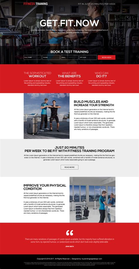 Fitness Training Programs For Beginners Lp 6 Health And Fitness Landing Page Design Preview Fitness Landing Page Templates