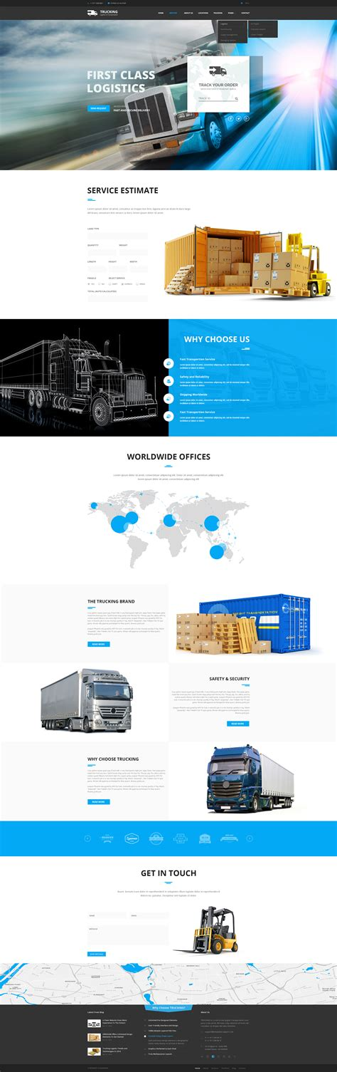 bootstrap themes transport transportation template truck website template gridgum
