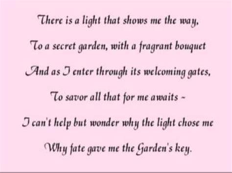 secret poems for the secret garden a poem