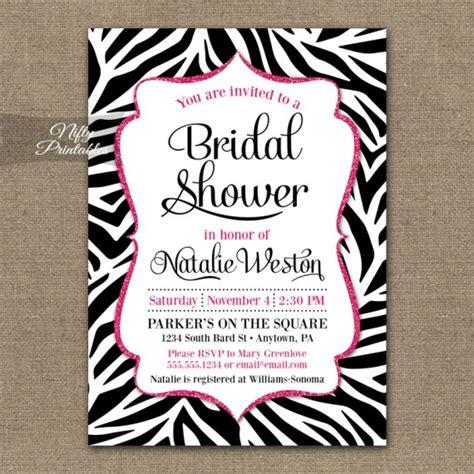 pink and zebra wedding invitations zebra pink bridal shower invitation nifty printables