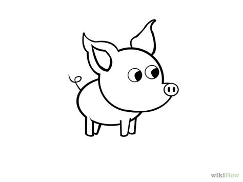 what to draw for pig drawing cliparts co