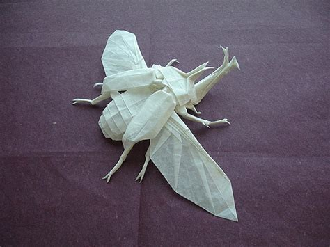 Origami Insect - origami a big badass bug made from paper bit rebels