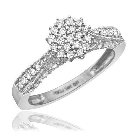 1 2 carat t w s engagement ring 14k white