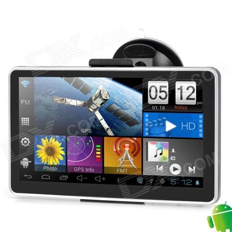 android monitor 7 quot lcd capacitive screen android 4 0 car gps navigator w wi fi europe map black silver
