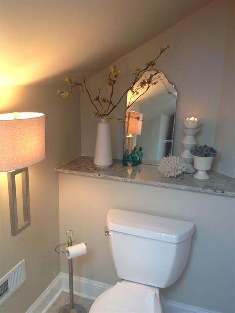 bathroom in the attic attic bathroom like the built in shelf behind the toilet
