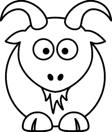 cartoon goat coloring page cartoon goat clipart best