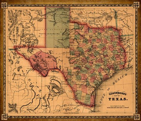 antique texas map texas map vintage antique map of texas drawing by world prints and designs
