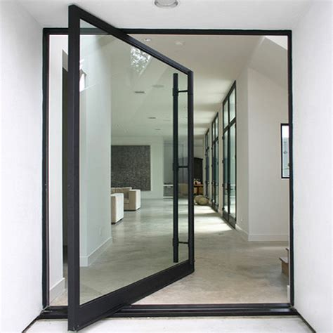 Door Styles Iklo Houston Homes Custom Entrance Doors Glass Pivot Door