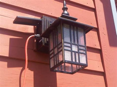 Outdoor Lighting Outlet Outdoor Light With Gfci Outlet Iron