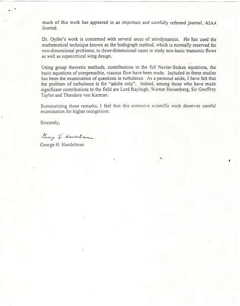 Support Letter Professor Gagut Nobel Prize Letters
