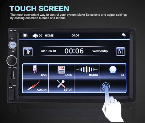 Lu Speaker Bluetooth Radio Touchscreen L Emergency 1 7 quot bluetooth 2 din car stereo mp5 player radio sd usb fm audio ir remote ebay