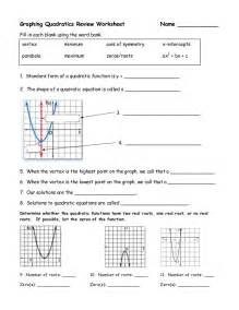 review solving quadratics by graphing