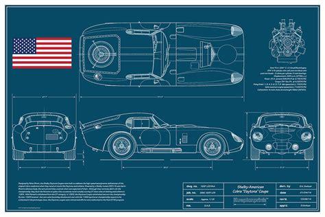 Floor Plan Drawing Online cobra daytona coupe blueplanprint drawing by douglas switzer