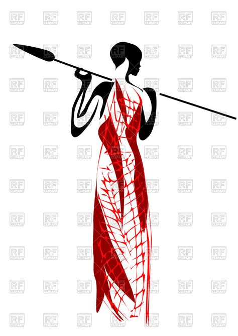 royalty free clipart masai silhouette vector illustration of