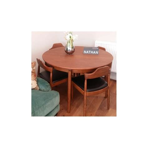 nathan citadel extendable teak dining table and chairs