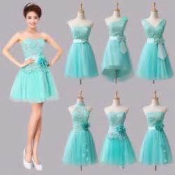 strapless prom dresses mint green short bridesmaid dresses