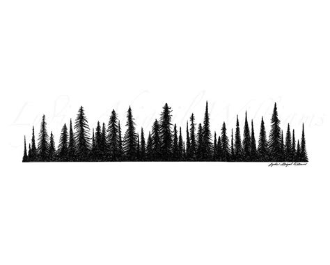 forest silhouette tattoo page 2 for querygrab tree line silhouette vector
