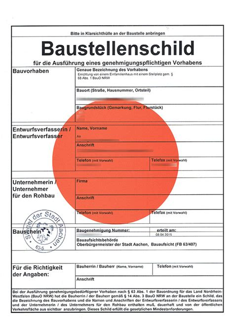 Baustellenschild Roter Punkt Berlin by Baugenehmigung Erteilt Baublog Der Familie Schmetz