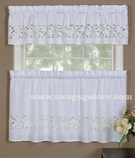 Lace Kitchen Curtains 16 Best Sheer Kitchen Curtains Images On Pinterest Kitchen Curtains Layered Curtains And Tier