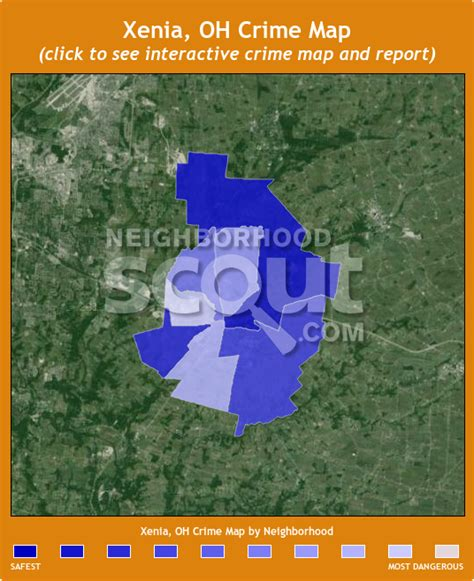 map of ohio xenia xenia crime rates and statistics neighborhoodscout
