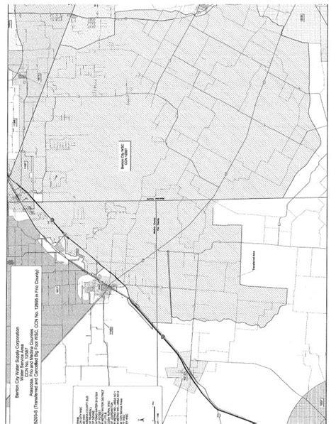 benton texas map location service area benton city water supply corporation
