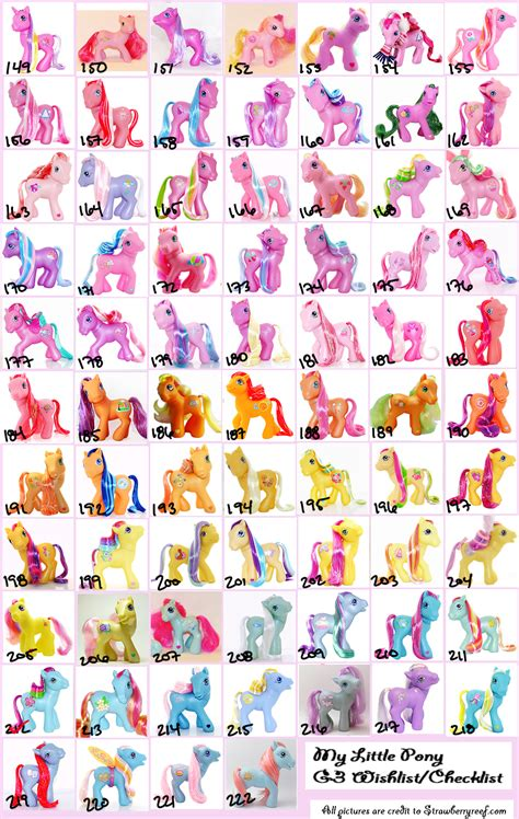 Mlp Blind Bag Ponies My Little Pony G3 Wishlist Checklist To Love Would Be